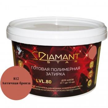 Готовая полимерная затирка Diamant Star lvl.80. 2кг цвет античная бронза 812