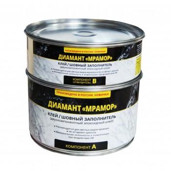 Эпоксидный клей шовный заполнитель «Diamant» Мрамор густой 1,5кг Бесцветный