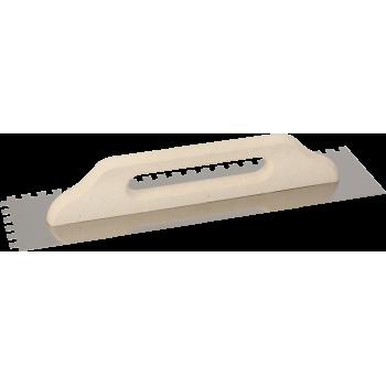 Нержавеющая тёрка 130х480 мм, зубчатая 10х10 мм