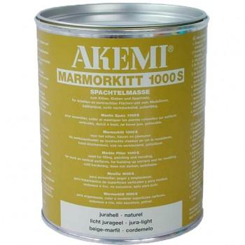 Пастообразный полиэфирный мраморный клей-шпатлевка 1000 S AKEMI (Акеми), юра-светлый 1,00 л.