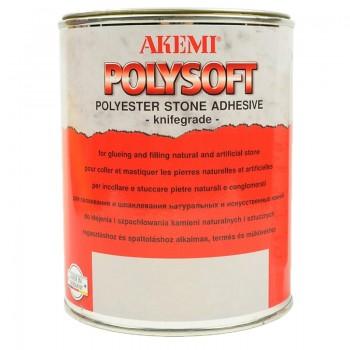 Кремообразный мраморный полиэфирный клей-шпатлевка POLYSOFT AKEMI (Полисофт Акеми), бежевый 1,00 л.