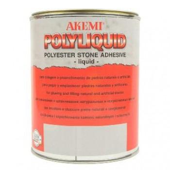 Жидкий полиэфирный клей-шпатлевка POLY-LIQUID AKEMI (Поли-Ликвид Акеми) для камня, светло-бежевая 1,7 кг.