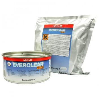 Клей полиуретановый EVERCLEAR 110 (Эверклир) AKEMI (Акеми) для камня, суперпрозрачный 1,35 кг.