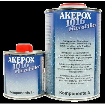 Клей для камня эпоксидный жидкий AKEMI 11785 Akepox 1016 бесцветный 1 кг (0,75+0,25кг) (Германия)