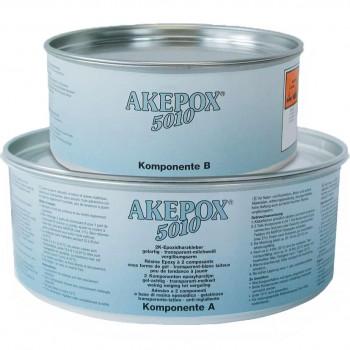 Желеобразный клей AKEPOX 5010 AKEMI (Акепокс 5010 Акеми) для камня, прозрачно-молочный, банка 2,25 кг.
