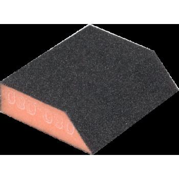 Губка абразивная 58/83х100х25мм, зерно 100