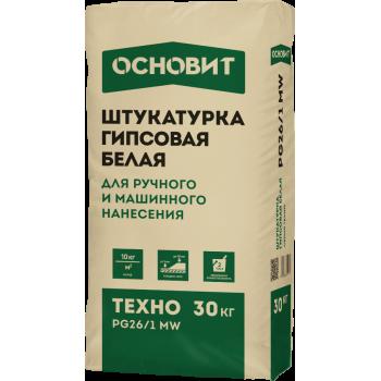 Гипсовая штукатурка белая ОСНОВИТ ТЕХНО PG26/1 MW